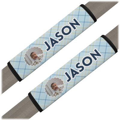 Baby Boy Photo Seat Belt Covers (Set of 2) (Personalized)