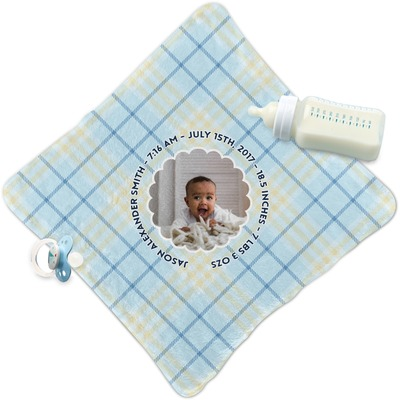 Baby Boy Photo Security Blanket (Personalized)
