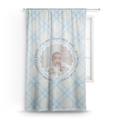 Baby Boy Photo Sheer Curtains (Personalized)