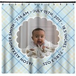 Baby Boy Photo Shower Curtain (Personalized)