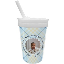 Baby Boy Photo Sippy Cup with Straw (Personalized)