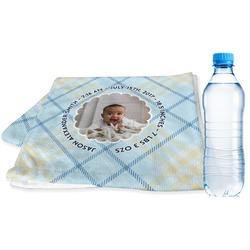 Baby Boy Photo Sports & Fitness Towel (Personalized)