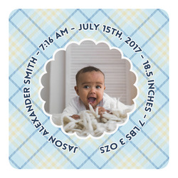Baby Boy Photo Square Decal - Custom Size (Personalized)