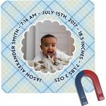 Baby Boy Photo Square Fridge Magnet (Personalized)