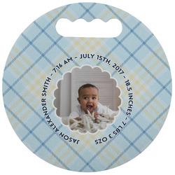 Baby Boy Photo Stadium Cushion (Round) (Personalized)