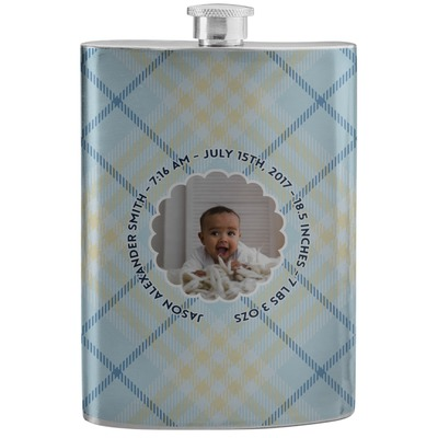 Baby Boy Photo Stainless Steel Flask (Personalized)