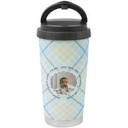 Baby Boy Photo Stainless Steel Travel Mug (Personalized)
