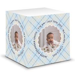 Baby Boy Photo Sticky Note Cube (Personalized)