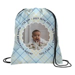 Baby Boy Photo Drawstring Backpack (Personalized)