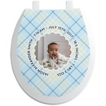 Baby Boy Photo Toilet Seat Decal (Personalized)