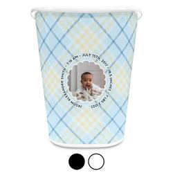 Baby Boy Photo Waste Basket (Personalized)