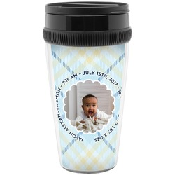 Baby Boy Photo Travel Mugs (Personalized)