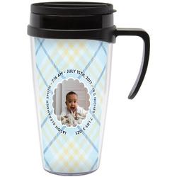 Baby Boy Photo Travel Mug with Handle (Personalized)