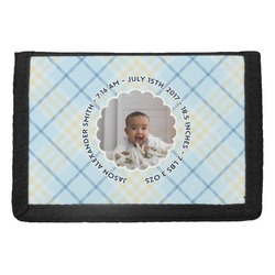 Baby Boy Photo Trifold Wallet (Personalized)