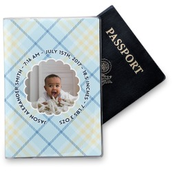 Baby Boy Photo Vinyl Passport Holder (Personalized)