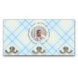 Baby Boy Photo Wall Mounted Coat Rack (Personalized)