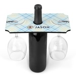 Baby Boy Photo Wine Bottle & Glass Holder (Personalized)
