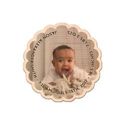 Baby Boy Photo Genuine Wood Sticker (Personalized)