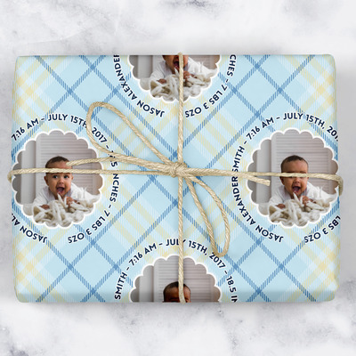 Baby Boy Photo Wrapping Paper