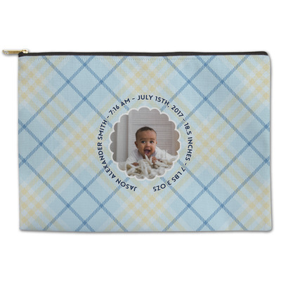 Baby Boy Photo Zipper Pouch (Personalized)