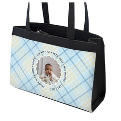 Baby Boy Photo Zippered Everyday Tote (Personalized)
