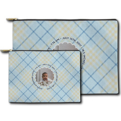 Baby Boy Photo Zipper Pouch (Personalized)