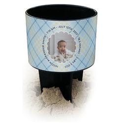 Baby Boy Photo Black Beach Spiker Drink Holder (Personalized)