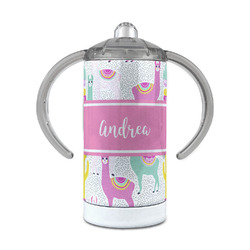 Llamas 12 oz Stainless Steel Sippy Cup (Personalized)