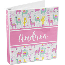 Llamas 3-Ring Binder (Personalized)