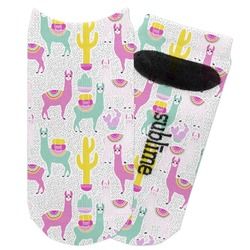 Llamas Adult Ankle Socks (Personalized)
