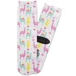 Llamas Adult Crew Socks (Personalized)