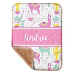 "Llamas Sherpa Baby Blanket 30"" x 40"" (Personalized)"