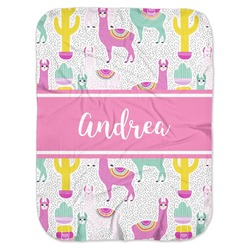 Llamas Baby Swaddling Blanket (Personalized)