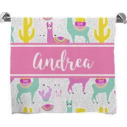Llamas Full Print Bath Towel (Personalized)