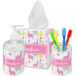 Llamas Bathroom Accessories Set (Personalized)