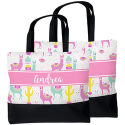 Llamas Beach Tote Bag (Personalized)