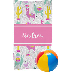 Llamas Beach Towel (Personalized)