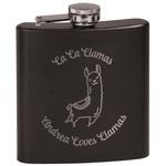 Llamas Black Flask Set (Personalized)