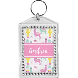Llamas Bling Keychain (Personalized)