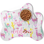 Llamas Bone Shaped Dog Food Mat (Personalized)