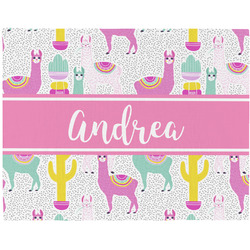 Llamas Woven Fabric Placemat - Twill w/ Name or Text
