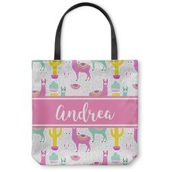 Llamas Canvas Tote Bag (Personalized)