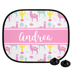 Llamas Car Side Window Sun Shade (Personalized)