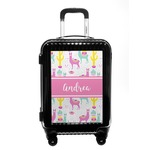 Llamas Carry On Hard Shell Suitcase (Personalized)