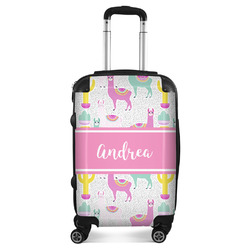 """Llamas Suitcase - 20"""" Carry On (Personalized)"""