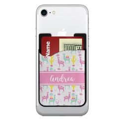 Llamas Cell Phone Credit Card Holder (Personalized)