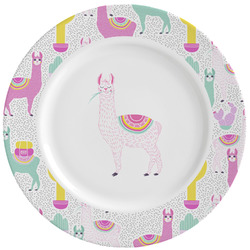 Llamas Ceramic Dinner Plates (Set of 4) (Personalized)