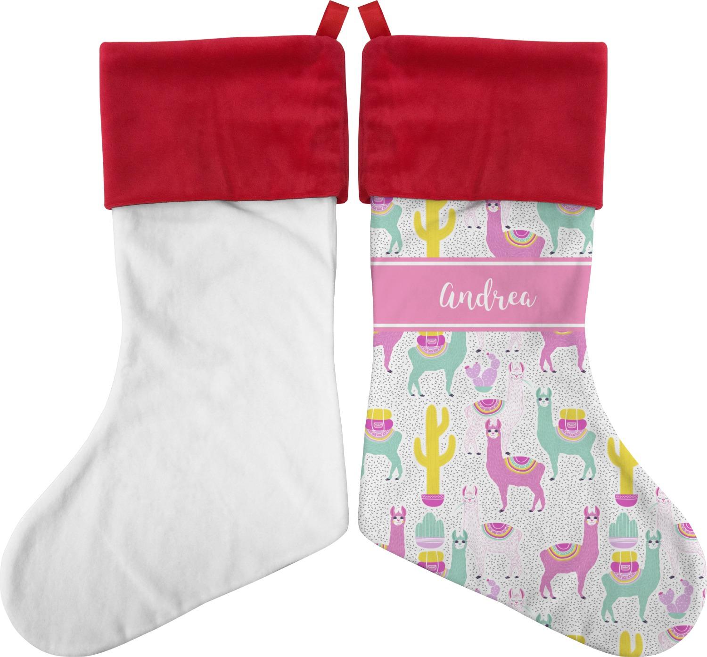 Llama Christmas Stocking.Llamas Christmas Stocking Personalized
