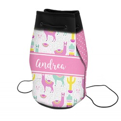Llamas Neoprene Drawstring Backpack (Personalized)