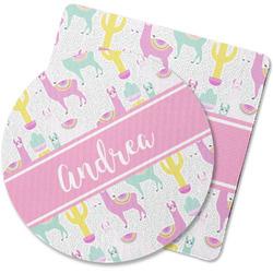 Llamas Rubber Backed Coaster (Personalized)
